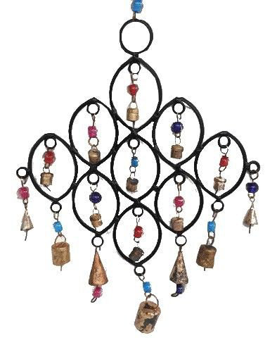 Cast Iron Wind Chime - Carved Culture