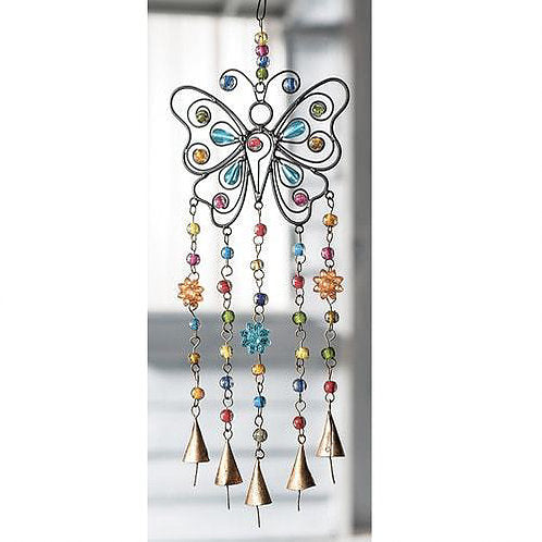 Butterfly Wind Chime - Carved Culture