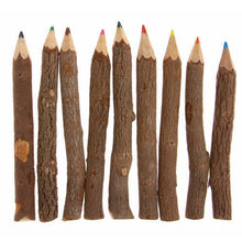 Load image into Gallery viewer, Twig Pencil Crayons (10) - Carved Culture