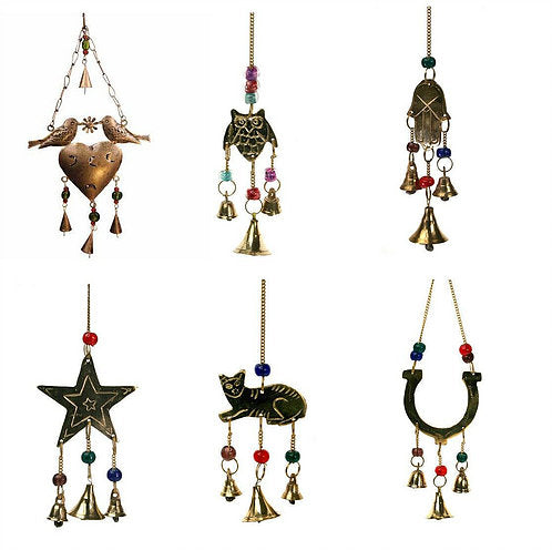 Symbol Brass Chimes - Carved Culture