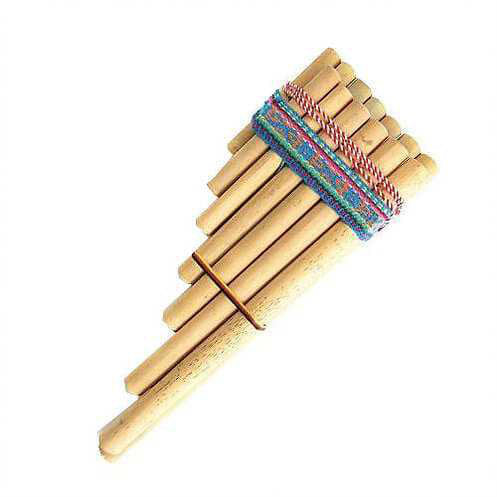 Double Zampona Pan Pipes - Carved Culture