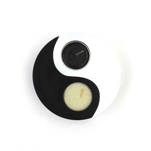 Yin Yang Tea Light Candle Holder Set - Carved Culture
