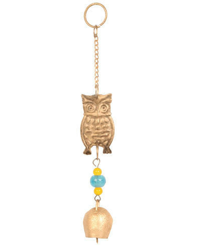 Indian Brass Wind Chime - Carved Culture