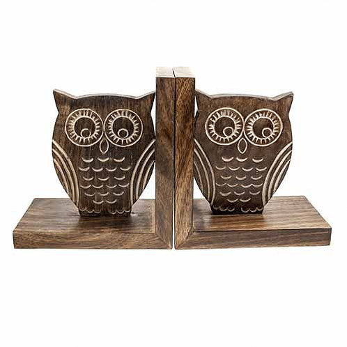 Owl Bookends 14.5cm - Carved Culture