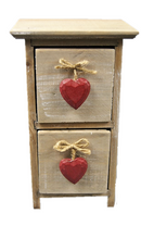 Rustic Heart Chest - Carved Culture