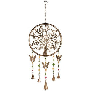 Tree of Life Wind Chime - Carved Culture