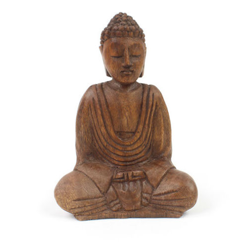 Sitting Buddha Figure - Carved Culture