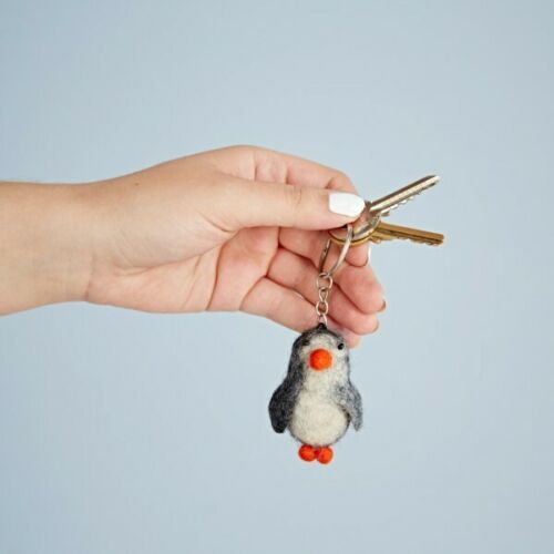 Penguin Wool Keyring Gift - Carved Culture