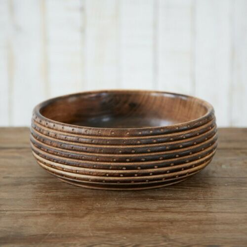 Mango Wood Bowl (Large) - Carved Culture