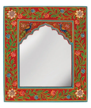 Karna Small Painted Portrait Mirror