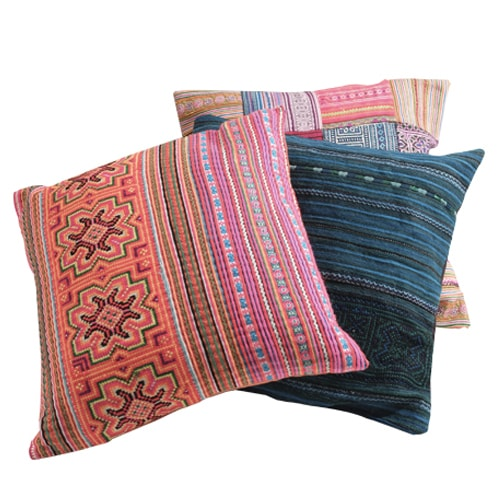 Vietnamese pillow cushion - Carved Culture