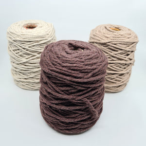 Macrame Cotton Rope - Chocolate