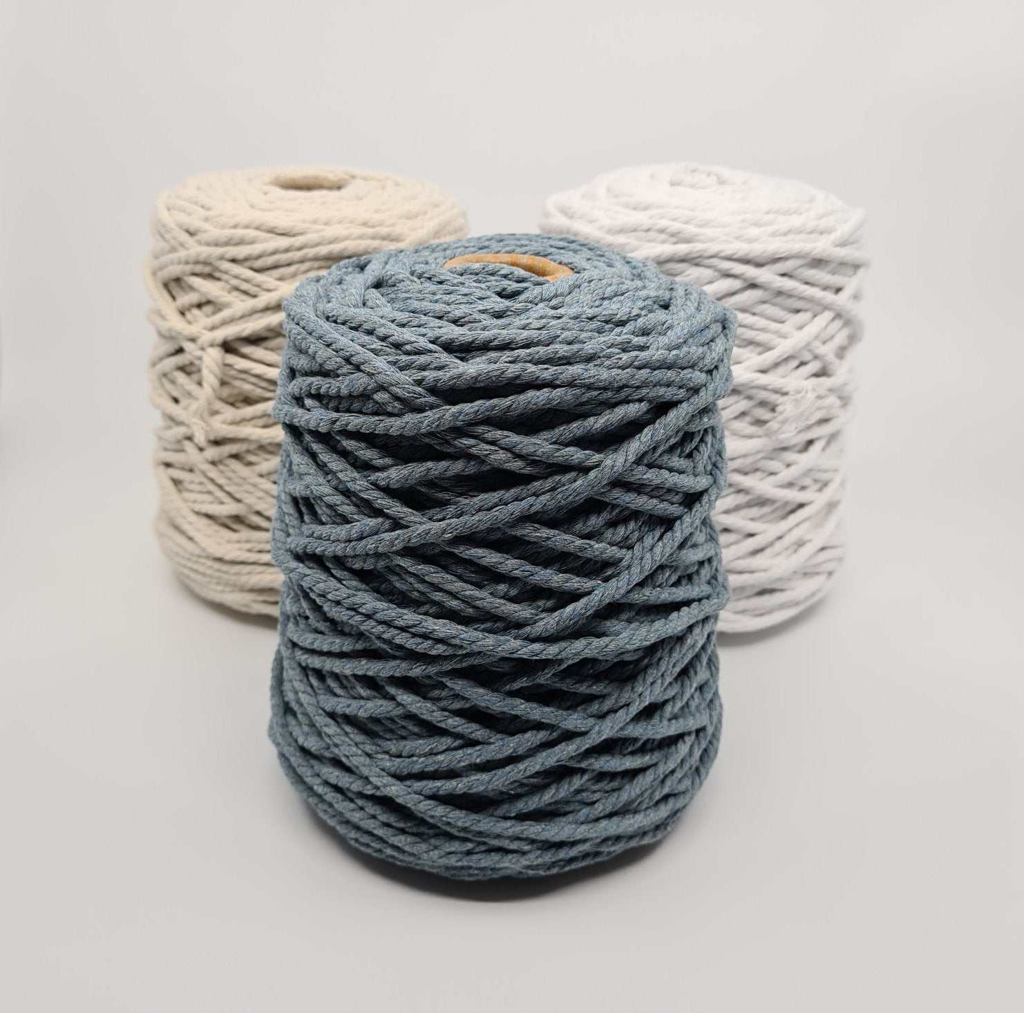 Macrame Cotton Rope - Storm Blue