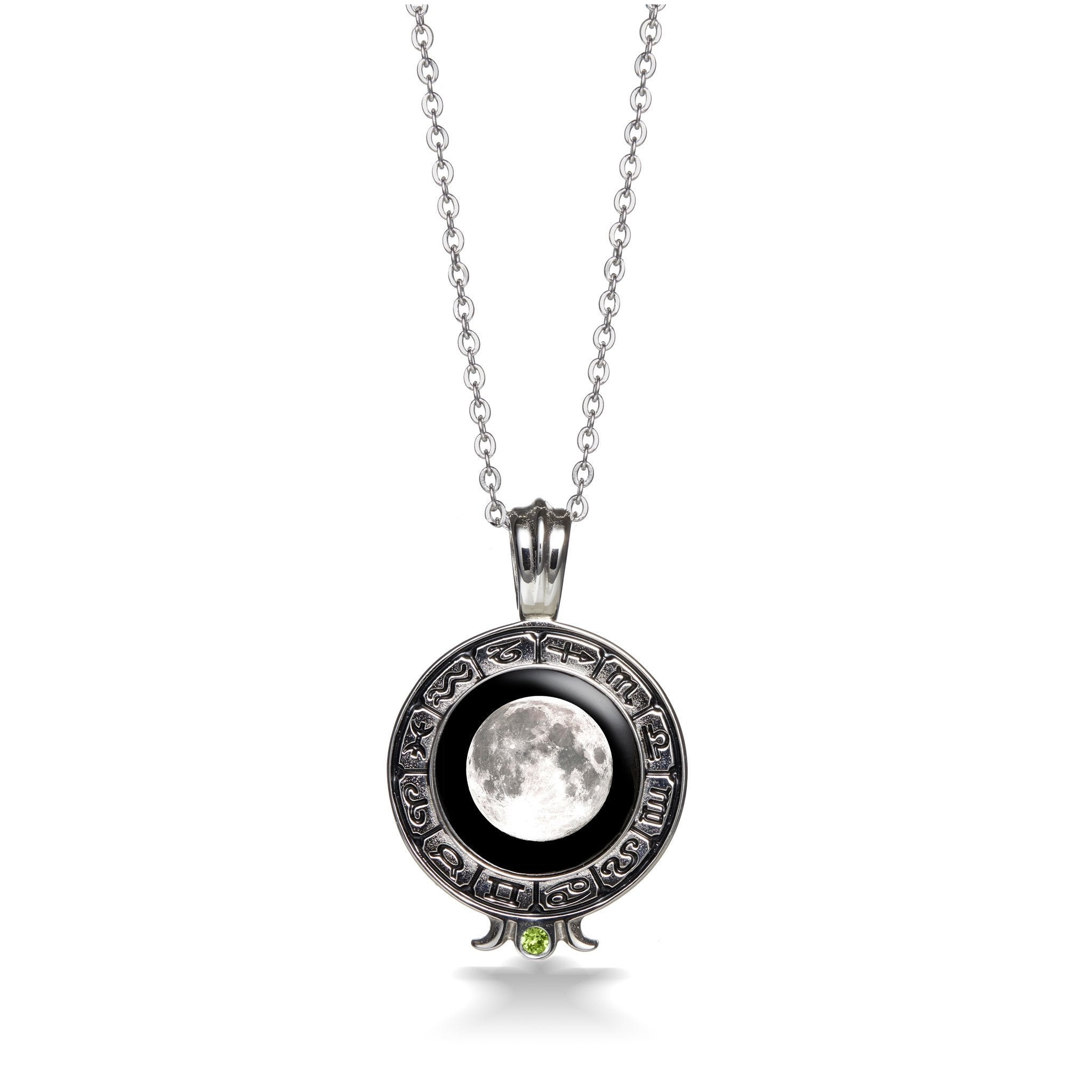 Birthstone Zodiac Necklace in Stainless Steel