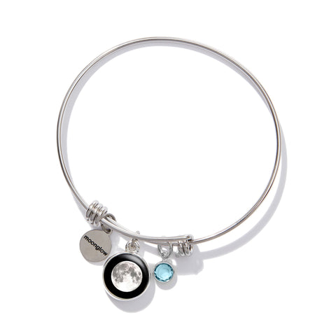 Logosphere Birthstone Bangle Bracelet