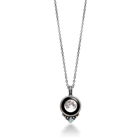 pewter birthstone necklace