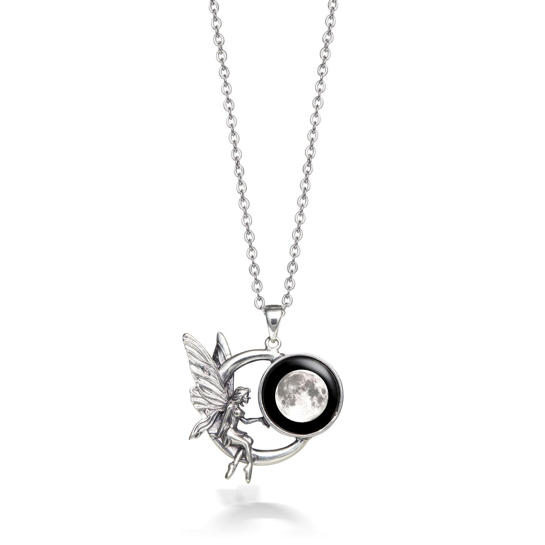Fairy on the Moon Necklace