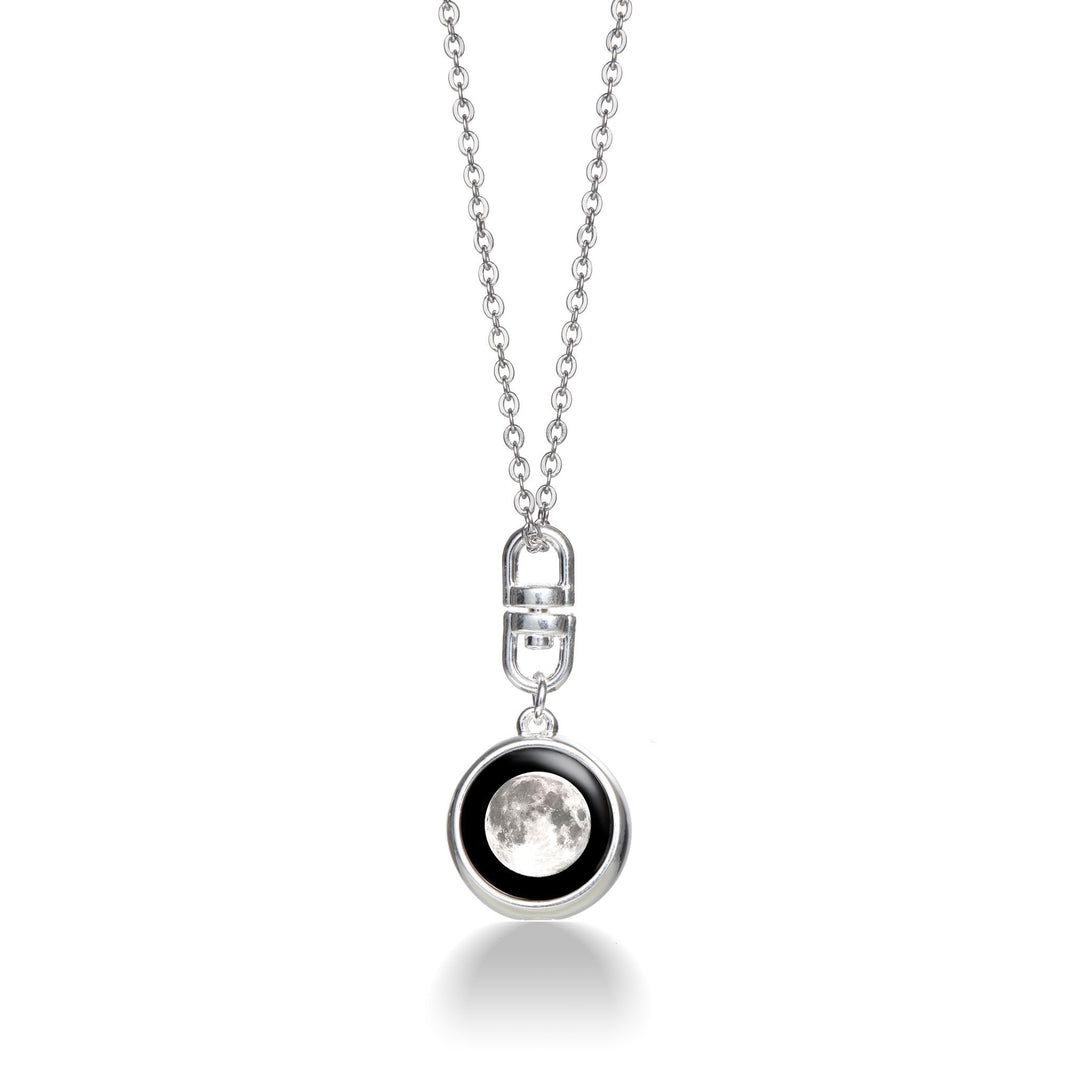 Moonspin Necklace Pendant in Silver