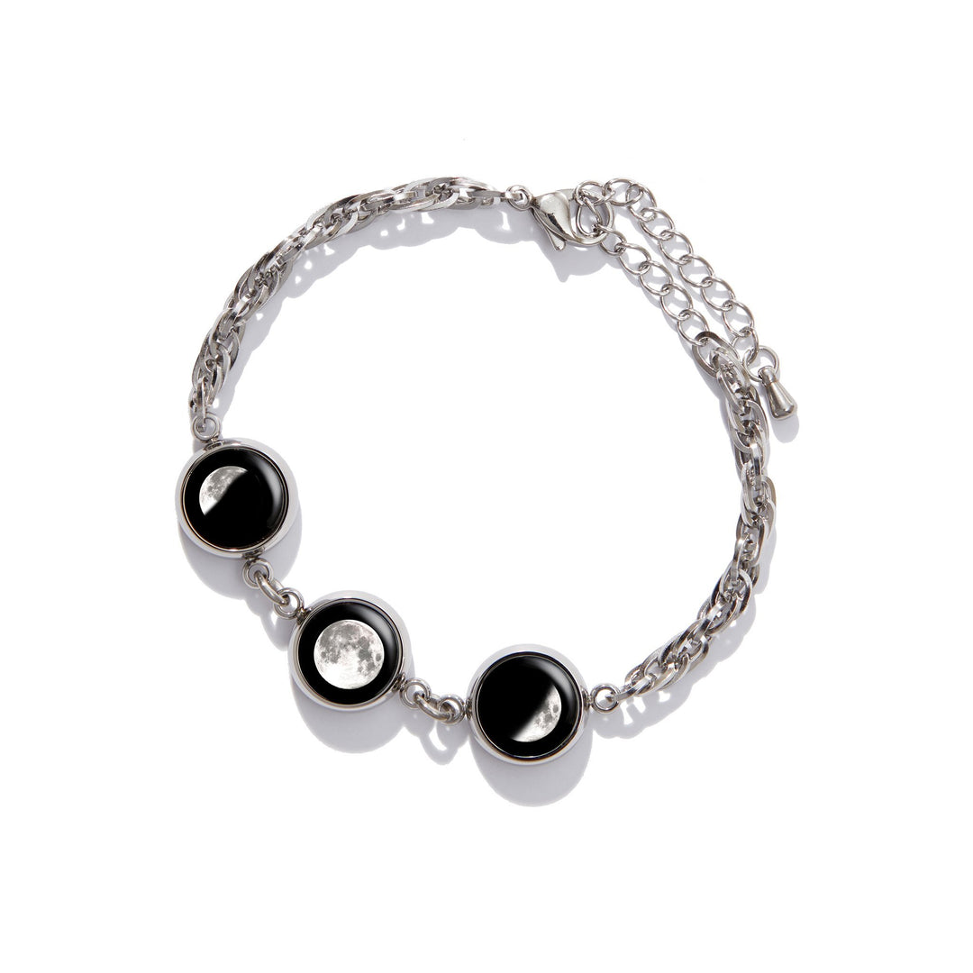Stainless Steel Brilliance Bracelet (3-Charm)