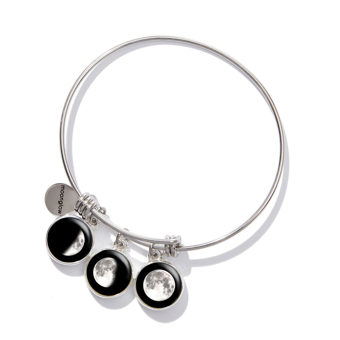 Moonstock 3-Charm Bangle Bracelet