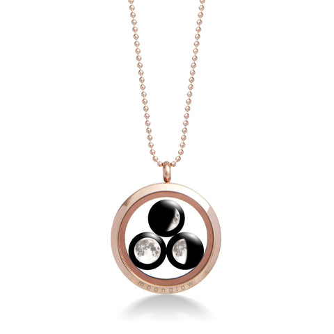 Family Locket in Rose Gold