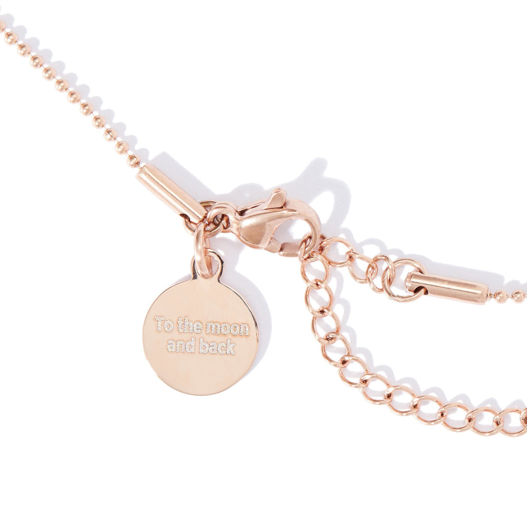 Mini Rose Gold Simplicity & Bead Chain