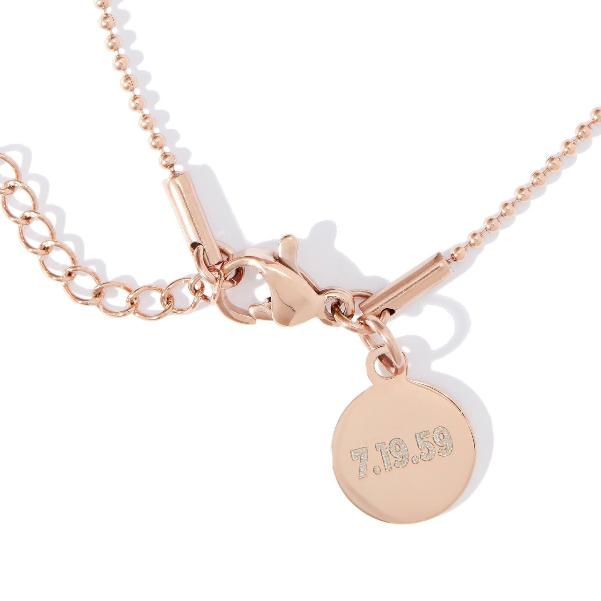 Pink Moon Family Locket in Rose Gold