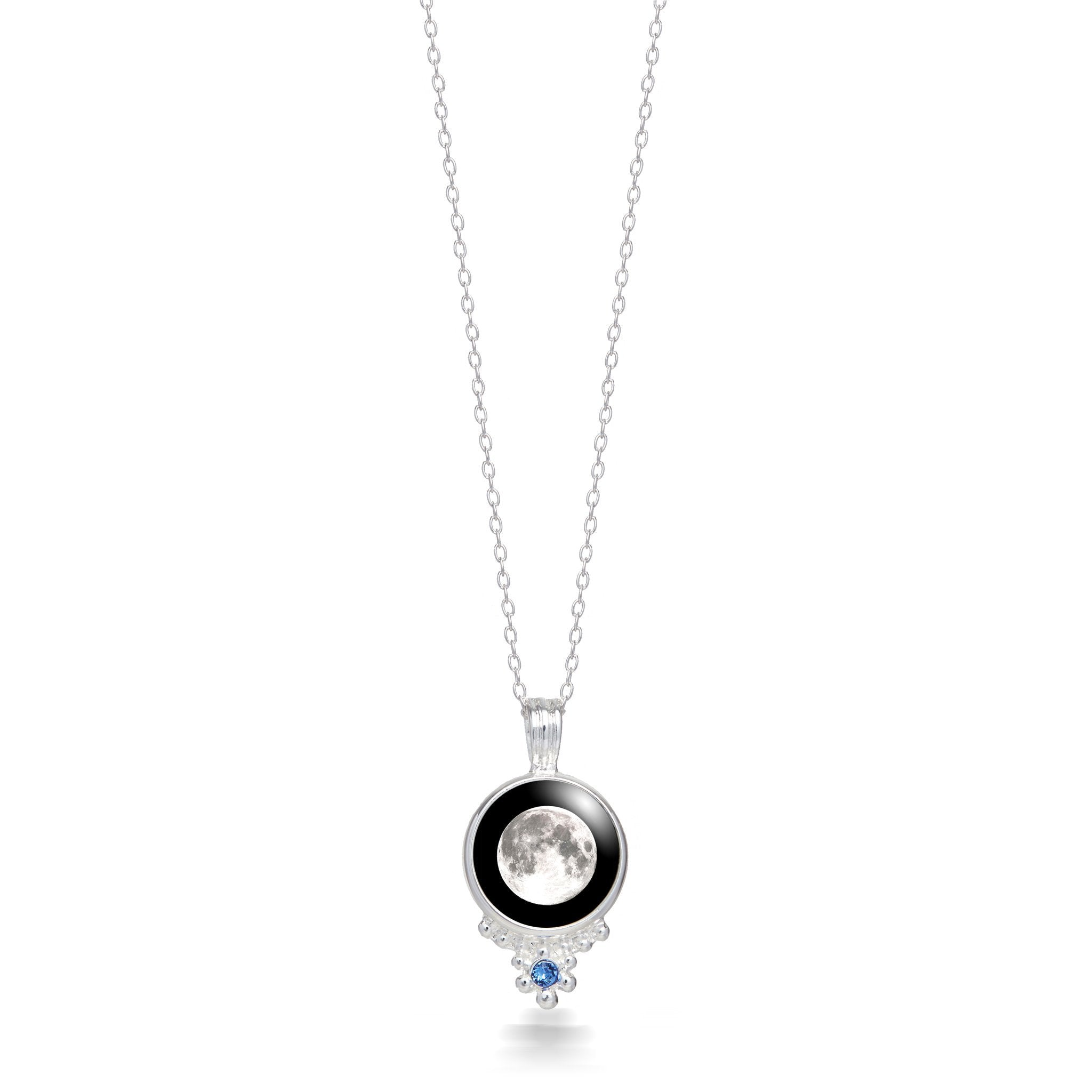 Classic Silver Birthstone Necklace