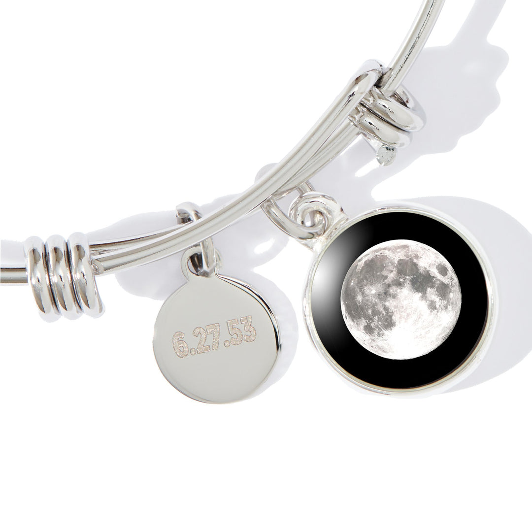 Moonstock 2-Charm Bangle Bracelet