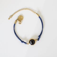 Positive Energy Moon Charm Bracelet in Night Blue