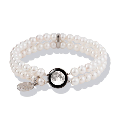 Fille de la Lune Bracelet with White Pearl