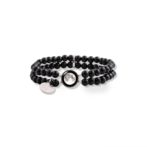 Fille de la Lune Bracelet with Black Pearl