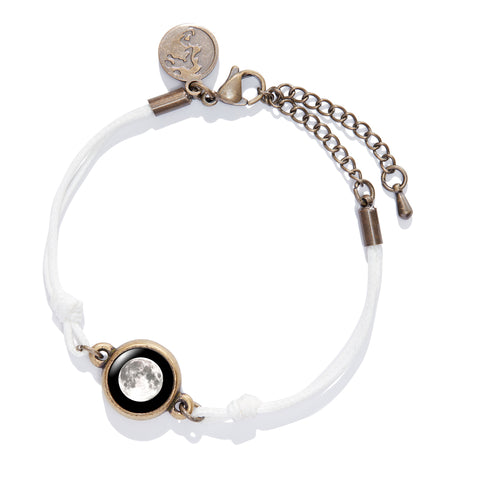 Positive Energy Moon Charm Bracelet in White