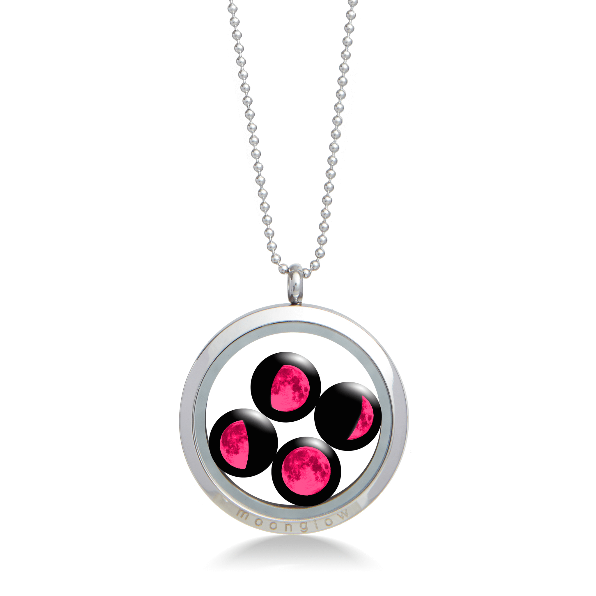 Pink Moon Large Family Locket