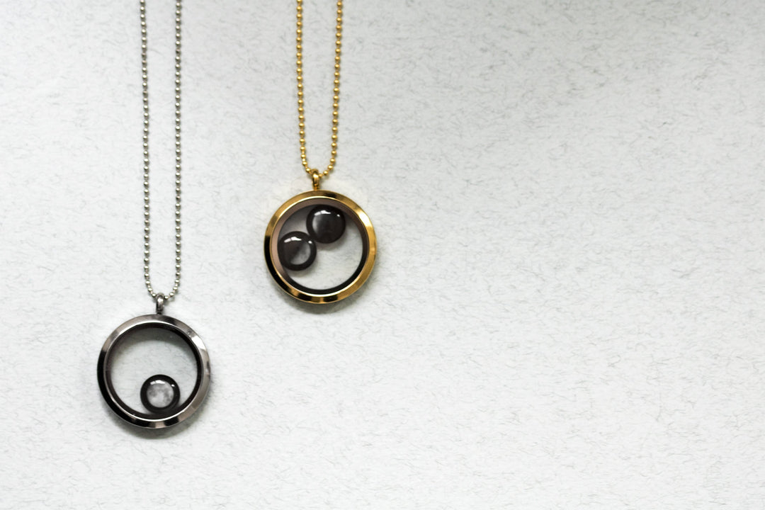 One Moon Locket in Stainless Steel