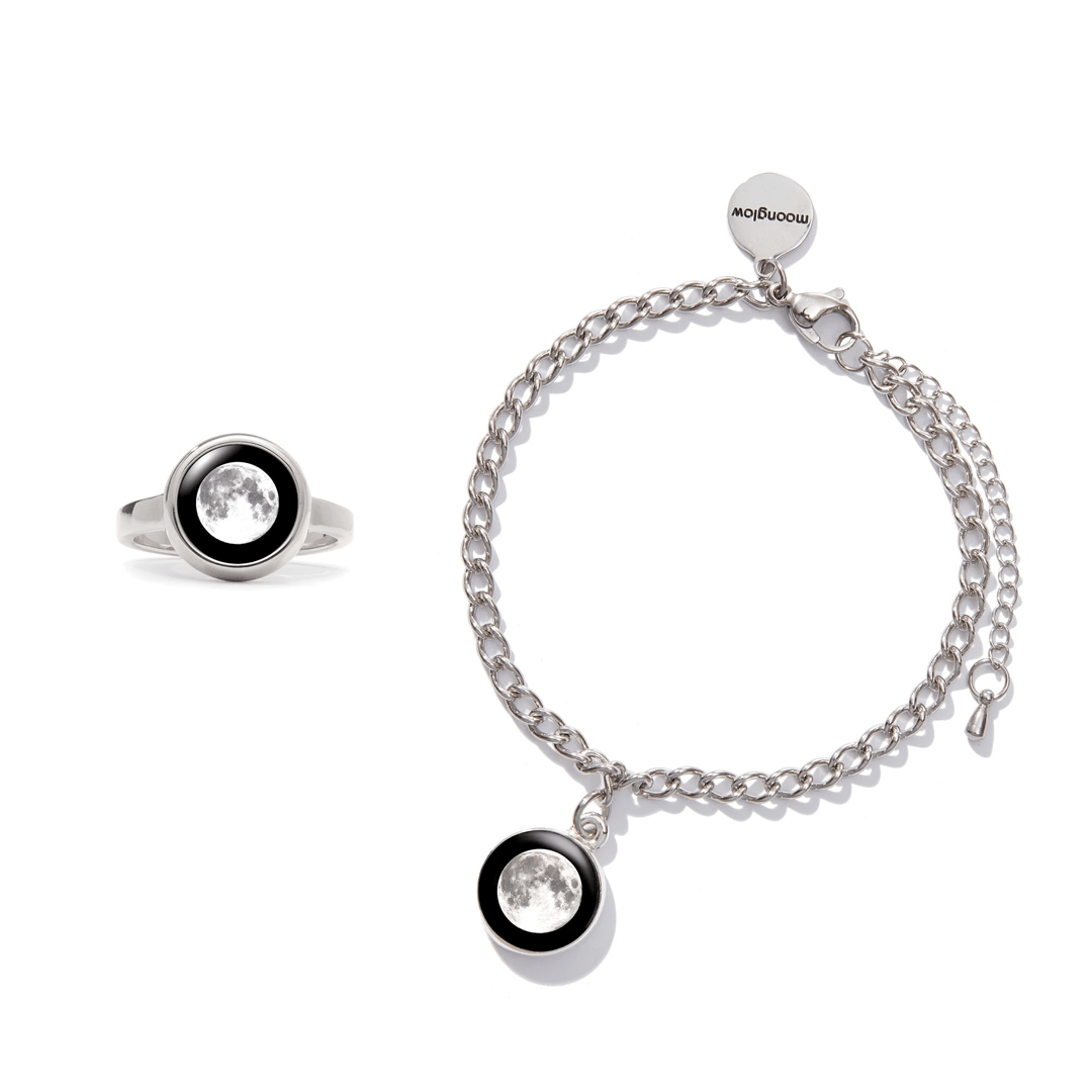 Milestone Ring + Moon-1 bracelet Bundle