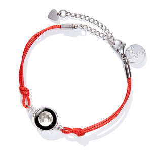 Positive Energy Moon Bracelet in Red