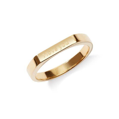 Engravable Ring in Gold