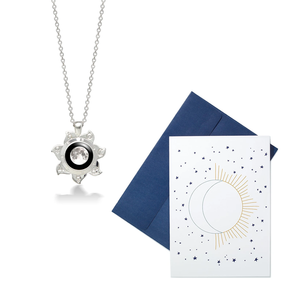 Sun Goddess and God Necklace + Moon Message Card Set
