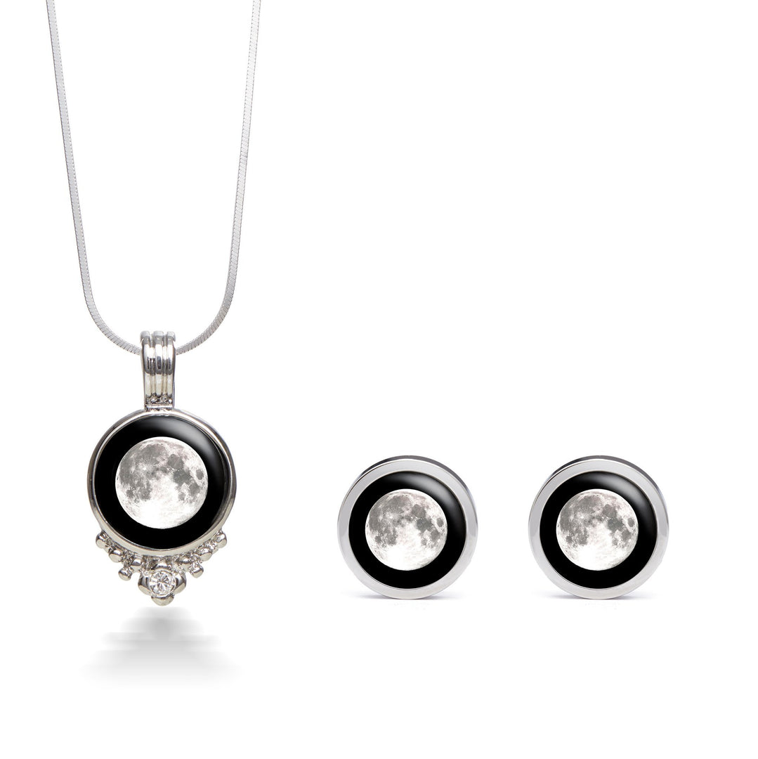 Selene Vintage Radiance Necklace & Brilliance Stud Earring Set