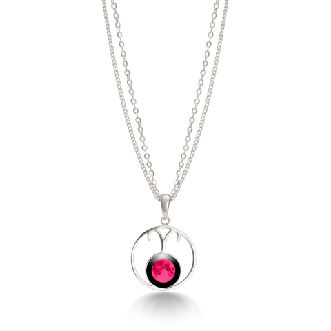 Pink Moon Stella Necklace - in Stainless Steel