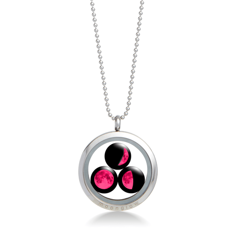 Pink Moon Family Locket Necklace
