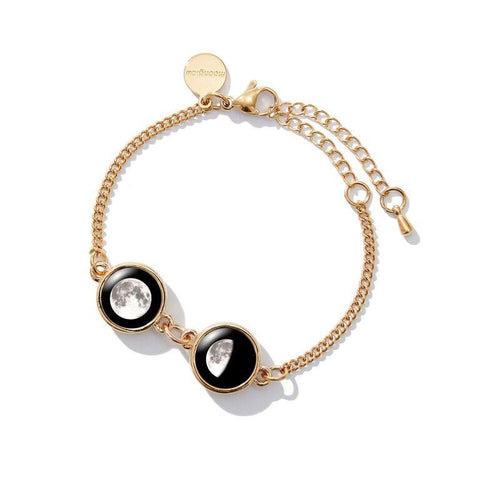 Double Moon Pallene Bracelet in Gold