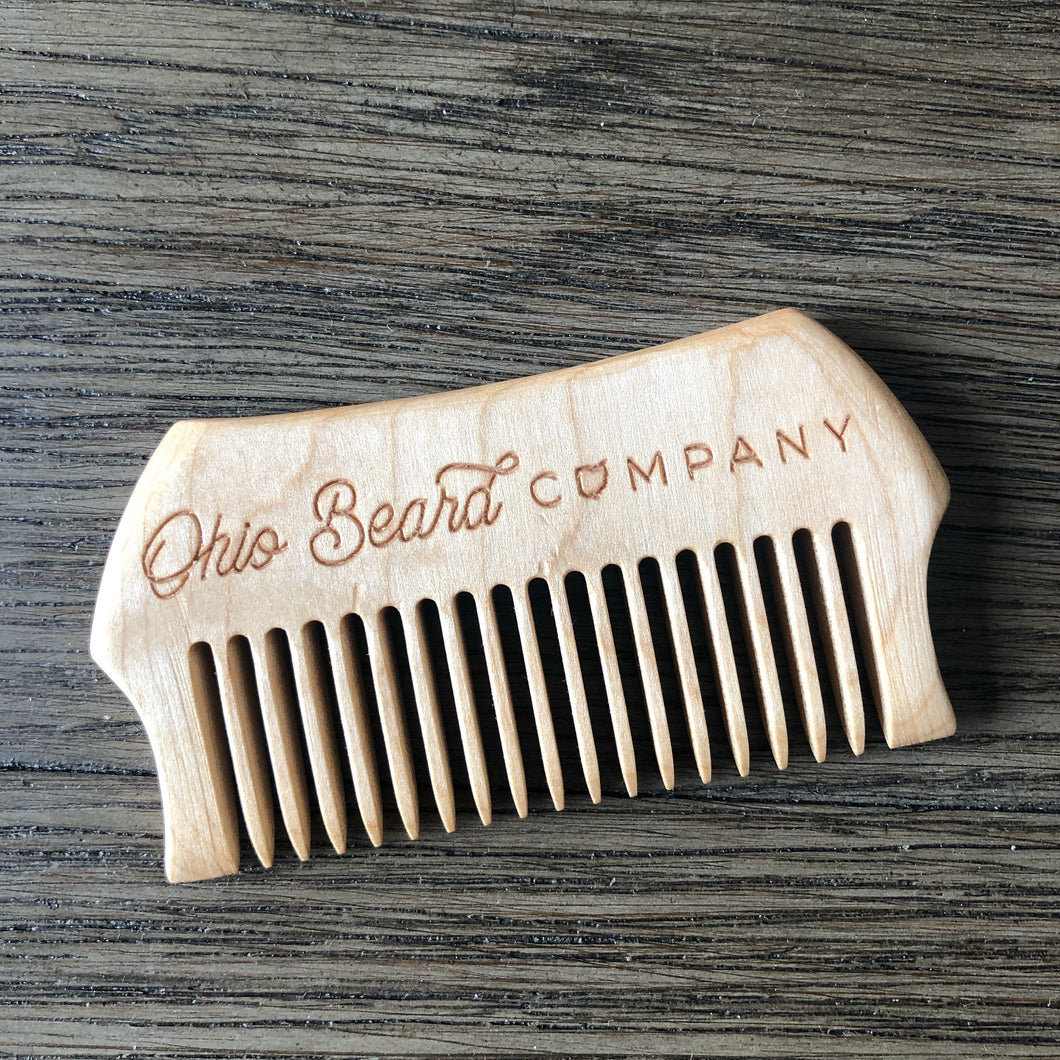 OBC Wooden Beard Comb