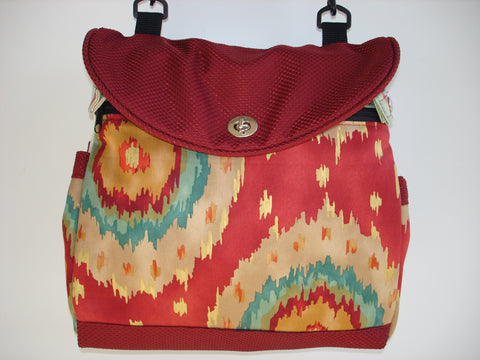 Two-Way Expandable Tote Bag, Project Bag, School Bag, Handmade Canvas Bag-KILAUEA.