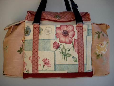 Deluxe Knitting/Crochet Tote Bag- SWEET PEA SAMPLER