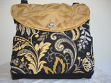 Two-way Expandable Tote Bag/Book Bag/Diaper Bag/Project Bag-FLORENTINE