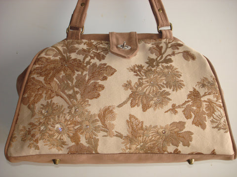 Bella Lux Carpet Bag/Tapestry Bag/Handbag/Shoulder Bag-MAGNOLIA