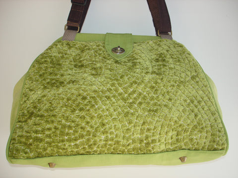 Bella Tapestry Carpet Bag/Handbag/Shoulder Bag/Project Bag-PISTACHIO