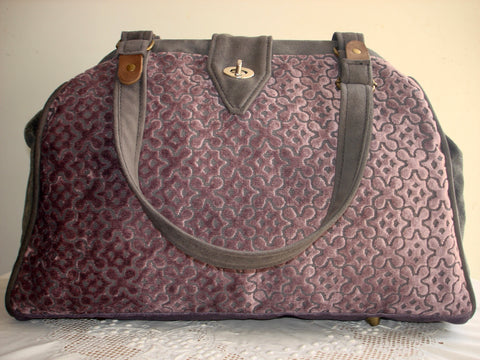 Bella Lux HandBag/Tapestry Bag/Shoulder Bag/Project Bag-PLUM PERFECT